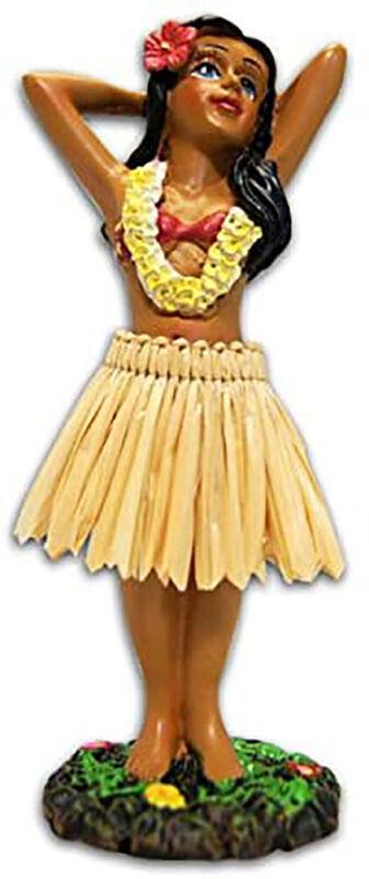 "KC Hawaii Hula Girl Posing Mini Dashboard Doll 4.4"""