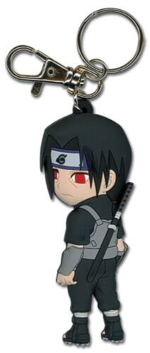 **Legit** Naruto Authentic PVC Keychain SD Itachi in Anbu Fighting Gear #3995