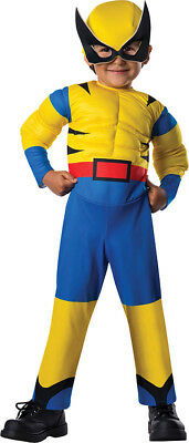 Wolverine Infant Costume (Boys Toddler WOLVERINE Muscle Chest Marvel Licensed)