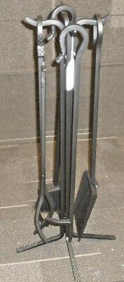 Stoll Simplicity 5 Piece  Iron Tool Set Fireplace Tool Set Bronzed Iron