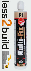 TIMco Multi-Fix Polyester Resin 310ML CHEMICAL ANCHOR RESIN CONCRETE
