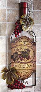 Art Vineyard Grape Wall Plaque Sign Winery Bar Kitchen Decor New