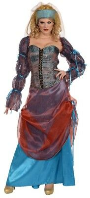 Forum Novelties Medieval Courtesan Adult Womens Costume Small 2-6 Gypsy Wench](Courtesan Halloween Costume)