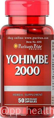 Puritans Pride Yohimbe Bark 2000 Mg Male Sexual Health 50 Capsules