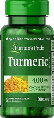 Turmeric 400 Mg   100 Capsules   Antioxidant Anti Inflammatory   Free Shipping