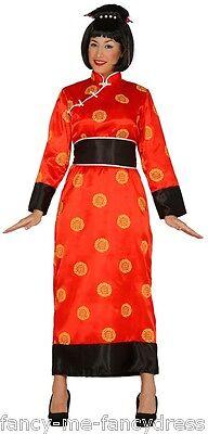 Damen Rote Orientalisch, Chinesisch, Japanisch Kimono Kostüm Kleid Outfit