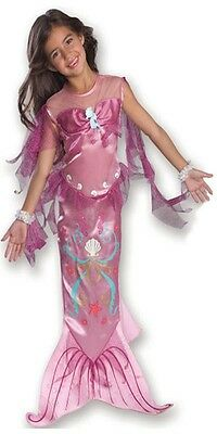 Girls PINK Mermaid Costume Halloween Fancy Dress S Small M Medium Childs Kids