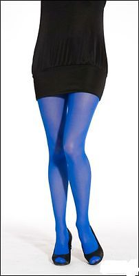 Ladies/Womens 40 Denier Tights in Neon Blue  (Neon Blue Tights)