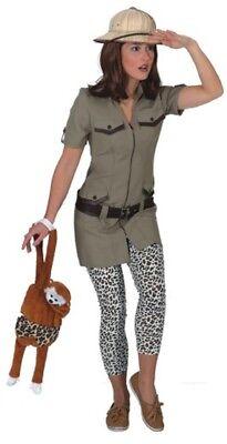 Damen Safari Explorer Dschungel Tv Film Buch Tag Woche Verkleidung - Dschungel Tag Kostüm