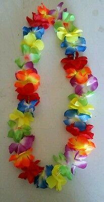 LED Light Up Flashing LEI Hawaiian Necklace Rave Party Blinking Floral - Led Lei