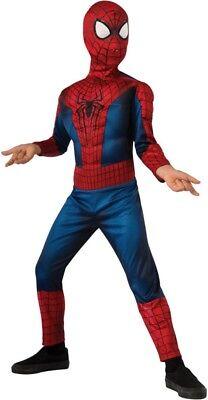 Boys Child Amazing SPIDERMAN 2 Muscle Chest  Deluxe Marvel Licensed - Amazing Spiderman 2 Kostüm