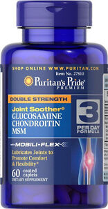 Puritan's Pride Double Strength Glucosamine, Chondroitin & Msm Joint Soother®