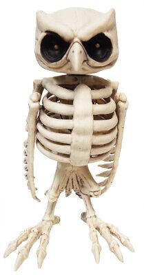 LifeSize Animated Owl Skeleton Halloween Prop Haunted House Outdoor Decor Spirit