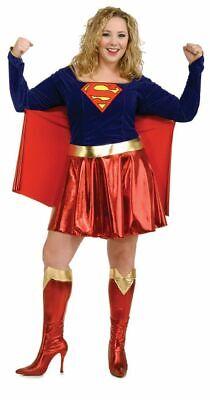 Damen Erwachsene Sexy Supergirl Superman Kostüm Übergröße - Sexy Rot Erwachsene Kostüme