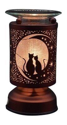 Electric Oil Wax Tart Melt Warmer Cats Moon Design Touch -