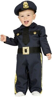Baby Girls Boys Police Officer Uniform Job Occupation Fancy Dress Costume Outfit