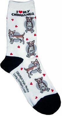 I Love My Chihuahua (631089) Women Socks Cotton New Gift Fun Unique Fashion