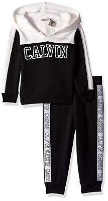 Calvin Klein Infant Girls Vanilla & Black 2pc Jogger Set Size 12M 18M 24M $50