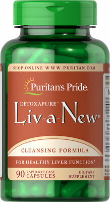 Puritan's Pride Liv-A-New Liver Cleanse Detox Detoxifier Sup