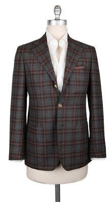 New $3000 Sartorio Napoli Gray Wool Plaid Sportcoat - 36/46 - (SA1025172)