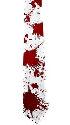 Blood Splatter Necktie Occult Zombie The Walking Dead Cosplay Goth Vampire Witch