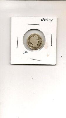 "1905-S 90% Silver Liberty ""Barber"" Head Dime Coin! #9Q18-24"
