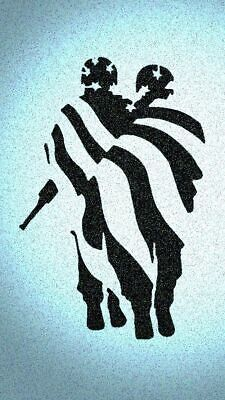 Painting With Stencils (Military Soldier with Flag Stencil Wall Painting Mylar Soldiers)