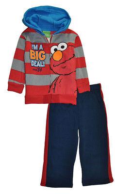 Sesame Street Boys Elmo 2pc Sweatsuit Size 12M 18M 2T 3T 4T 5T