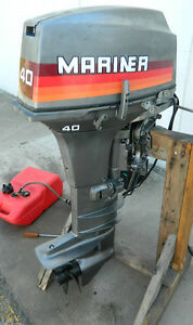 Mariner 40 Hp Outboard Motor 1986 87 Now With Video