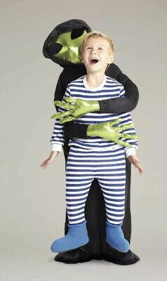 NEW Chasing Fireflies Alien Abduction Boys Blue & Green Sz 8 Halloween Costume