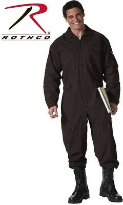 Black Military Style Flight Suit Air Force Style Flight Coveralls Rothco 7502