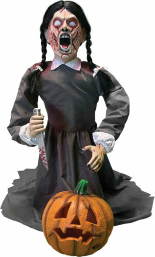 "36"" ANIMATED LUNGING PUMPKIN CARVER Halloween Prop PRESALE"