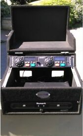 American Audio Twin CD Deck flight Case - DJ / Kareoke