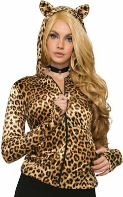 Leopard Hoodie Ears Wild Cat Animal Fancy Dress Up Halloween Costume Accessory (Cat Animal Halloween Costumes)