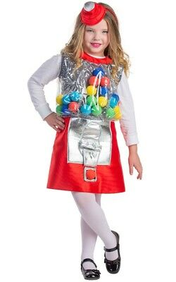 Dress Up America Kids Girls Gumball Machine Size T4-L - Gumball Machine Costume Kids