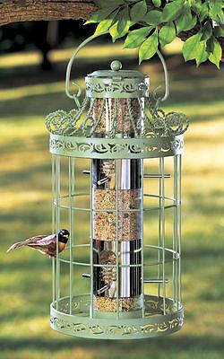 WILD BIRD SEED FEEDER EASY FILL GREEN COLOR SQUIRREL PROOF HANGING BIRDFEEDER