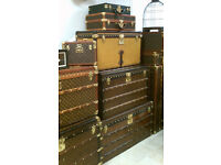 WANTED Louis Vuitton Trunk or large suitcase vintage or antique