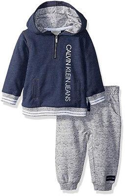 Calvin Klein Infant Boys Blue Hoodie & Jogger Set Size 3/6M