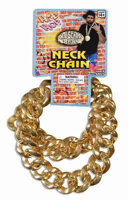 Hip Hop Old School Bling Big Links Gold Neck Chain Halloween Costume - Old School Hip Hop Costumes