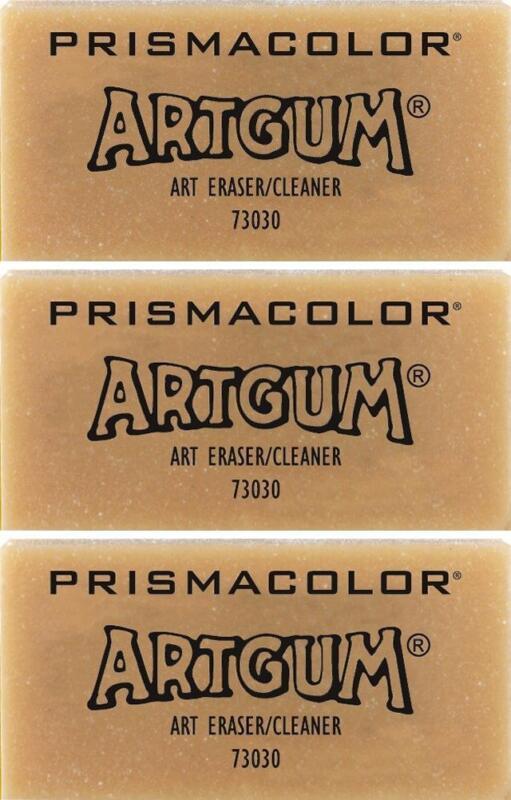 Sanford Prismacolor Artgum Dry Cleaning Eraser - Graphite Pencil - 3 PC - 73030