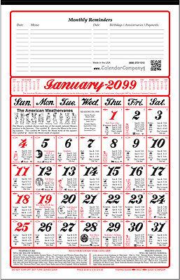2020 ALMANAC CALENDAR sunrise, weather, fishing, planting by signs (A11)