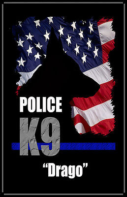 Personalized Police K9 11x17 Poster (Two Posters)