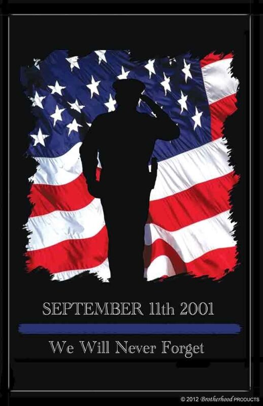 Sept. 11 Law Enforcement Rememberance 24x36 In. Poster