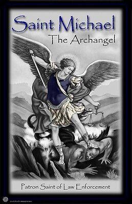St. Michael Patron Saint of Law Enforcement 24x36 Inch Poster
