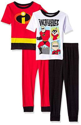 Incredibles 2 Little/Big Boys 4pc Snug Fit Pajama Pant Set Size 4 6 8 10](Little Boys Pjs)