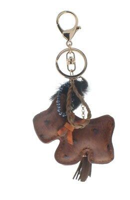 Leather Puppy Dog Pom-Pom Tassel Key Chain Fob Phone Purse Charm (Pom Pom Dogs)
