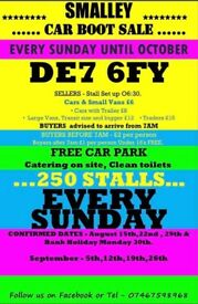 Smalley car boot sale de7 6fy