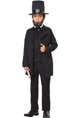 Abraham Lincoln Kids Costume (Presidents Abraham Lincoln Andrew Jackson Honest Abe Child)