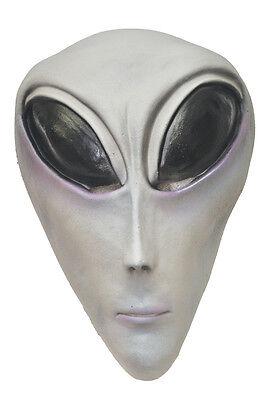 HALLOWEEN ADULT ALIEN ROSWELL AREA 51 UFO GREY MASK PROP - Grey Alien Mask