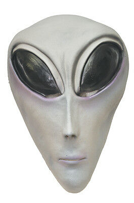 Halloween LifeSize Costume UFO ROSWELL ALIEN LATEX DELUXE MASK Haunted House NEW](Grand Alien Costume)